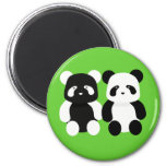 kawaii panda buddies 2 inch round magnet