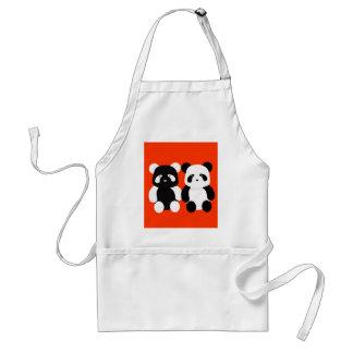 kawaii panda buddies adult apron
