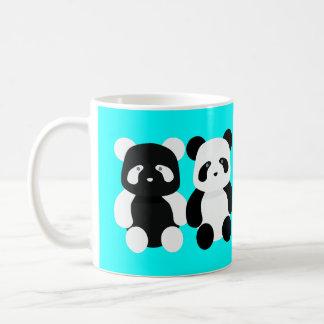 kawaii panda buddies coffee mug