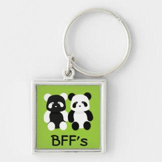 kawaii panda buddies keychain