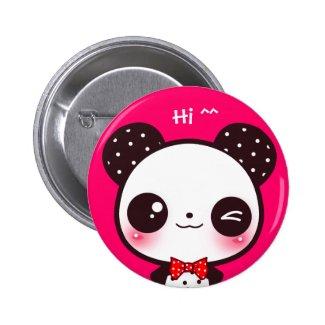 Kawaii panda buttons