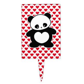 Kawaii panda cake pick