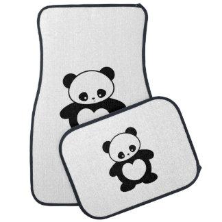 Kawaii panda car floor mat