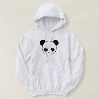 Kawaii Panda-chan Face Hooded Sweatshirt