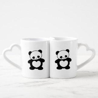 Kawaii panda coffee mug set