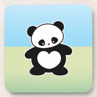 Kawaii panda beverage coaster