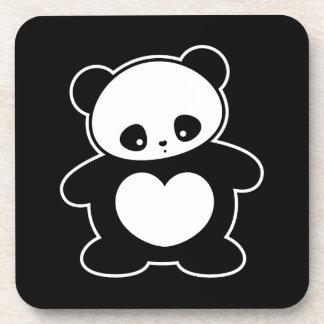 Kawaii panda beverage coasters