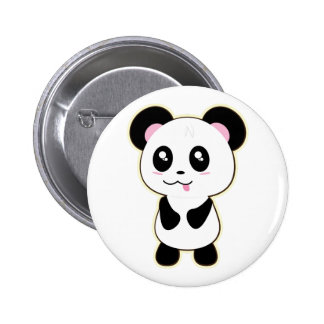 Kawaii Panda cute Pinback Button