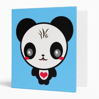 Kawaii Panda Folder 3 Ring Binder