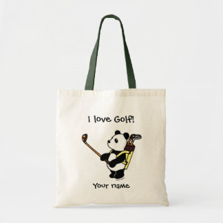 Kawaii Panda Golfer Tote Bag