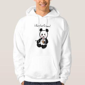 Kawaii Panda Ice Cream Cartoon Hoodie