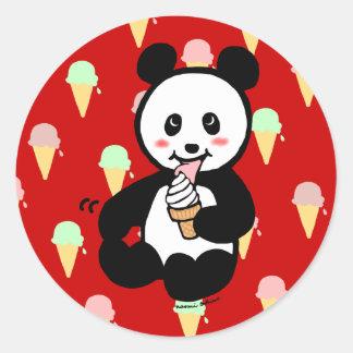 Kawaii Panda Ice Cream Cartoon Stickers