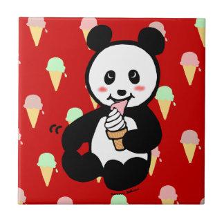 Kawaii Panda Ice Cream Cartoon Tile