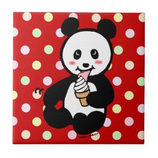 Kawaii Panda Ice Cream Cartoon Tiles