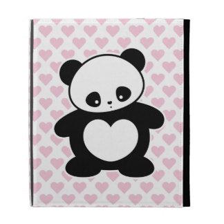Kawaii panda iPad case