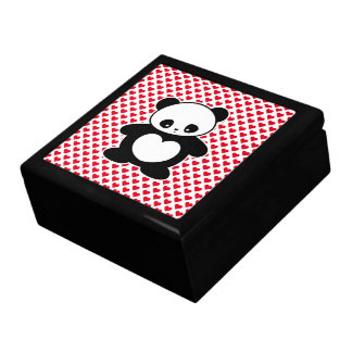 Kawaii panda keepsake box