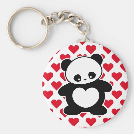 Kawaii panda keychain