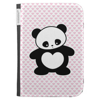 Kawaii panda kindle folio case