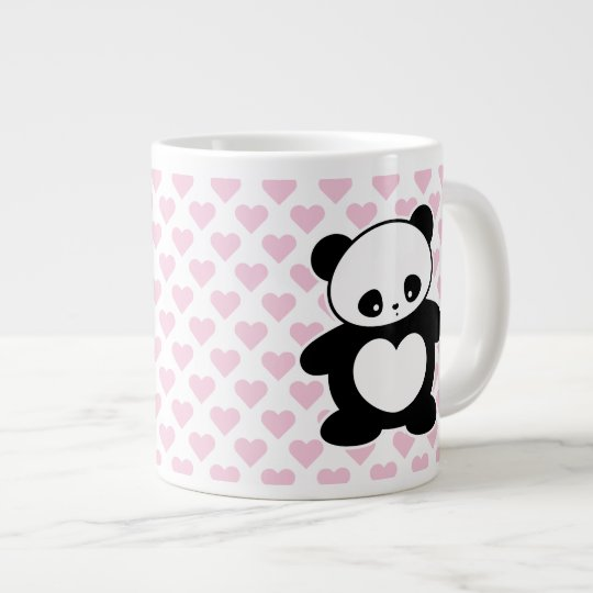 Kawaii panda large coffee mug