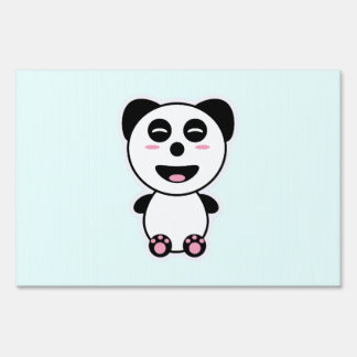 Kawaii Panda Lawn Sign