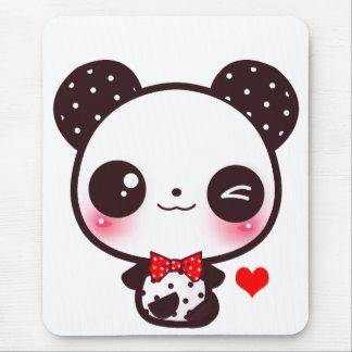 Kawaii panda mouse pad