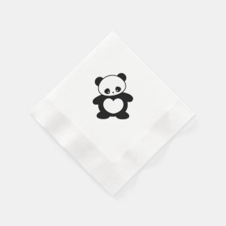 Kawaii panda napkin