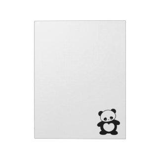 Kawaii panda note pad