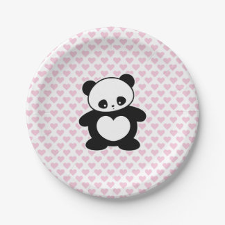 Kawaii panda paper plate
