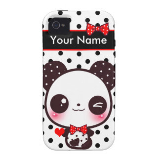 Kawaii Panda - Personalized iPhone 4/4S Covers