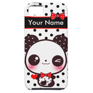 Kawaii Panda - Personalized iPhone SE/5/5s Case