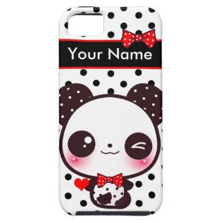 Kawaii Panda - Personalized iPhone SE/5/5s Case