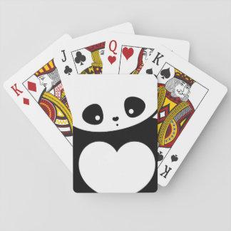 Kawaii panda playing cards
