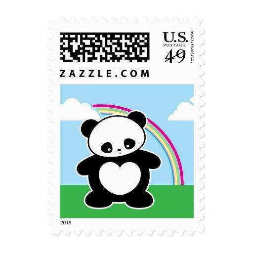 Kawaii panda postage