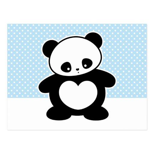 Kawaii panda postcard