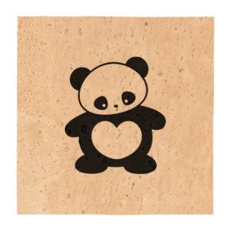 Kawaii panda drink coasters