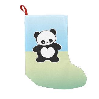 Kawaii panda small christmas stocking