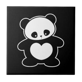 Kawaii panda small square tile