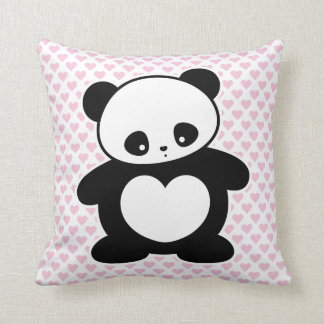 Kawaii panda throw pillow