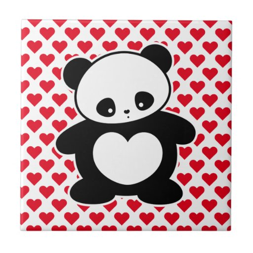 Kawaii panda tile