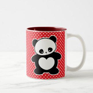 Kawaii panda Two-Tone coffee mug