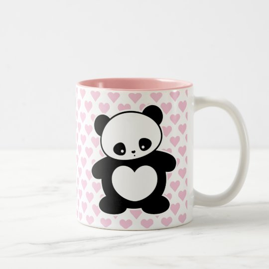 Kawaii panda Two-Tone coffee mug