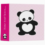 Kawaii panda vinyl binders