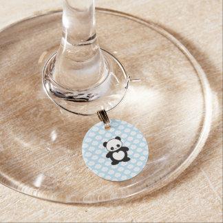 Kawaii panda wine glass charms