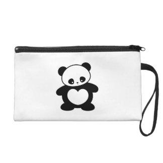 Kawaii panda wristlet purse