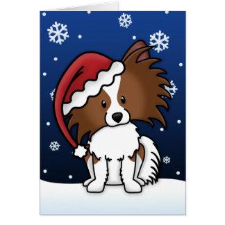 Kawaii Papillon Christmas Card