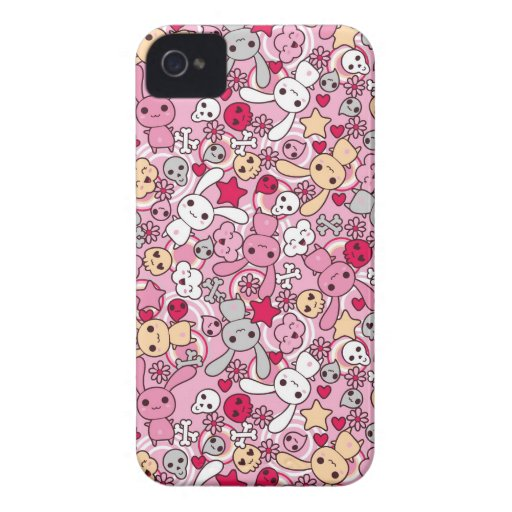 Kawaii pattern iPhone 4 Case-Mate cases