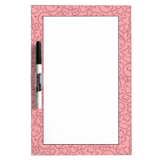 Kawaii pattern with cute cakes dry erase board