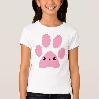 Kawaii paw print girls t-shirt