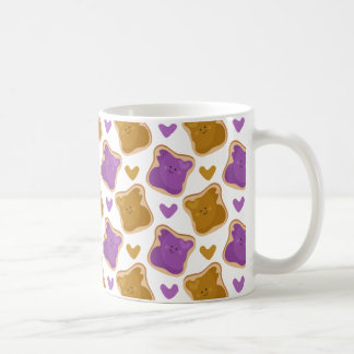 Kawaii PBJ Pattern Coffee Mug
