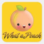Kawaii Peach Sticker